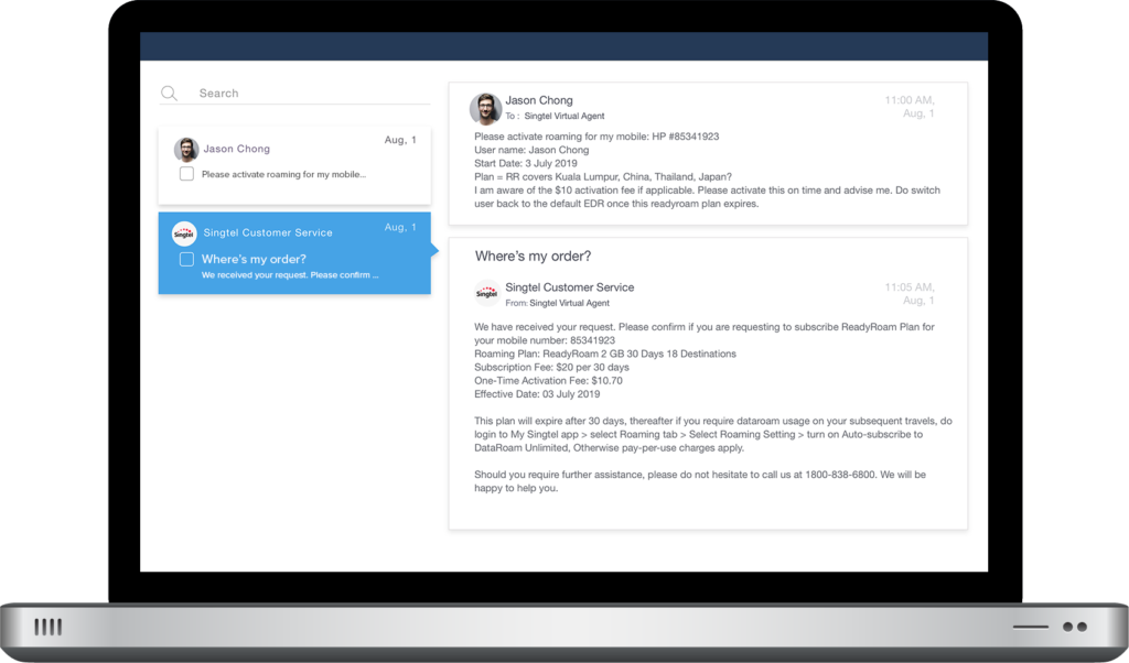 Netomi is an email support system that promotes agent collaboration, on overdrive
