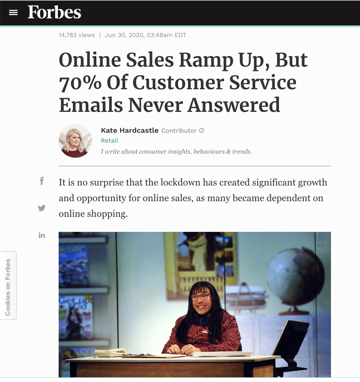 forbes customer service benchmark