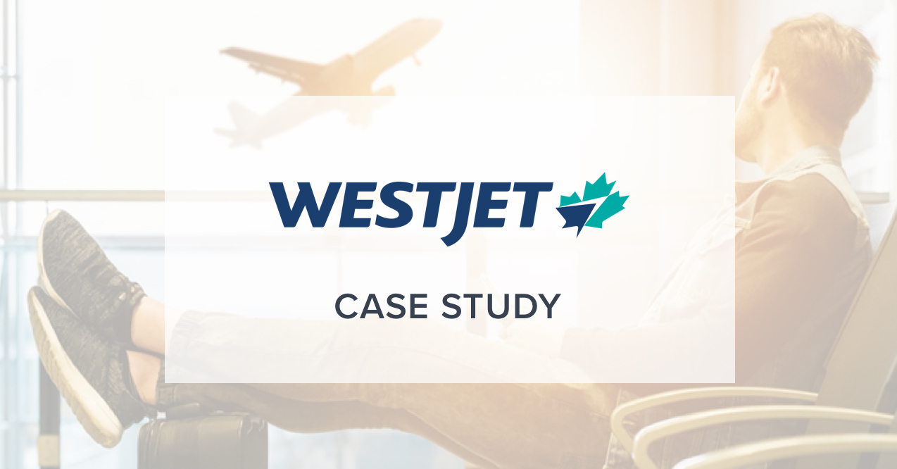 AI Customer Service Travel and Hospitality Case Study, featuring WestJet