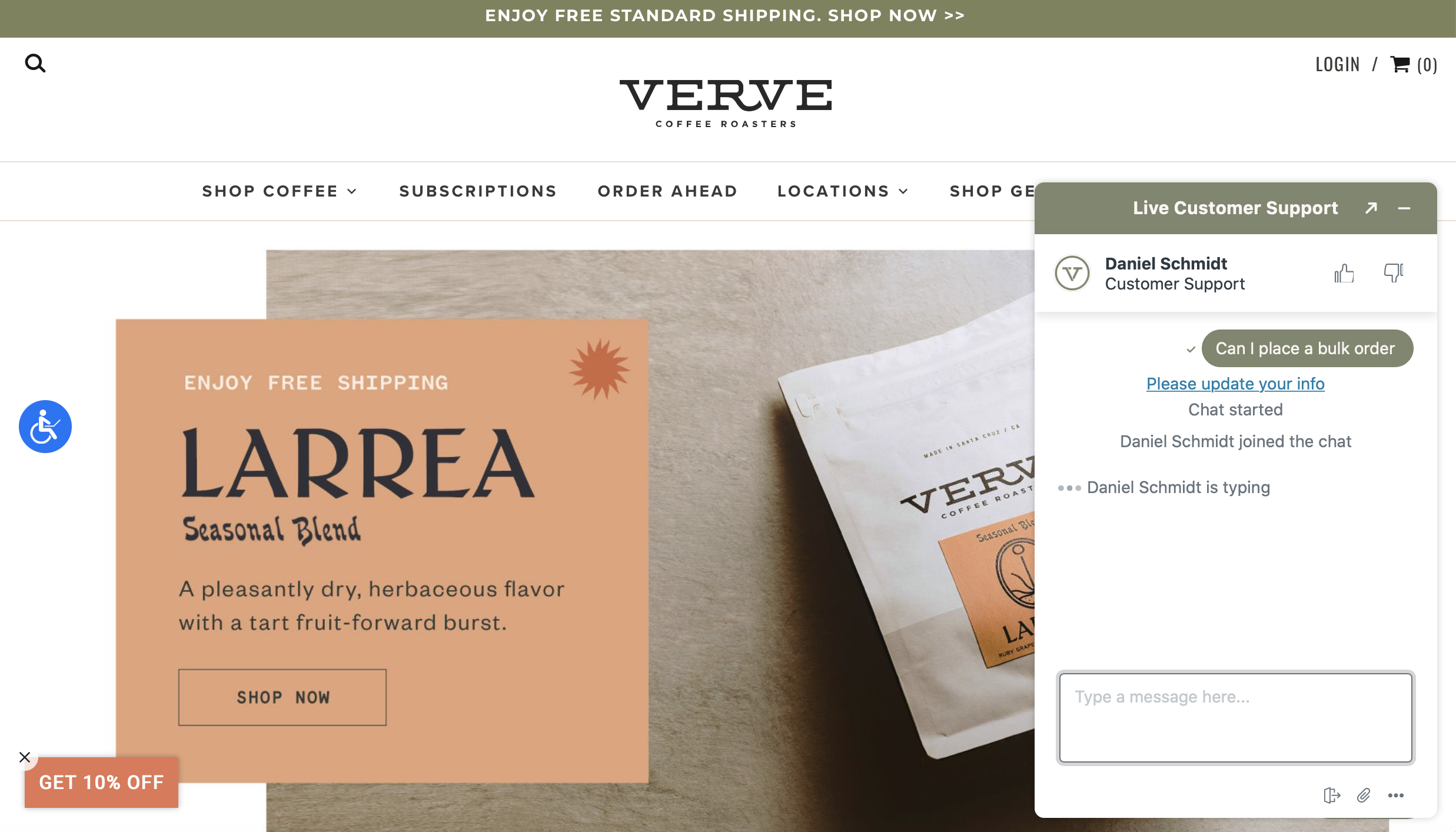Verve Coffee is one of the best shopify stores