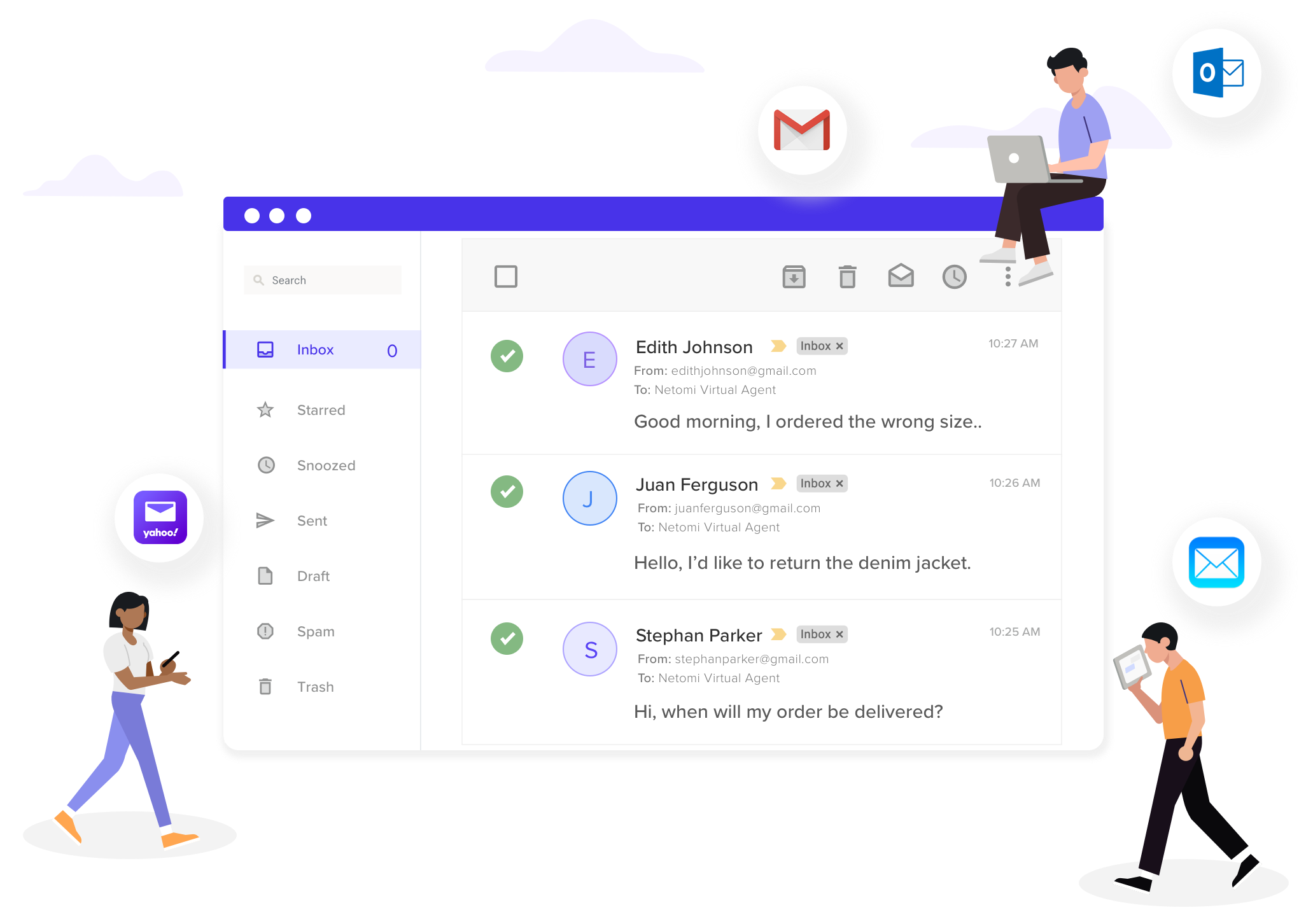 The smartest AI-bot for email takes your support inbox to zero.