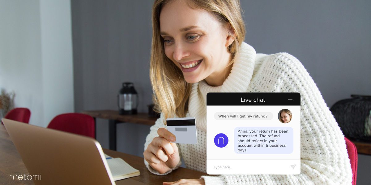 ecommerce chatbot in action